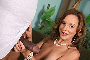 Brunette cougar Rebecca Bardoux takes it up her ass on blacks on cougars blog