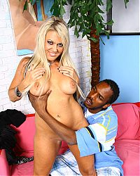 Busty cougar Chennin Blanc takes the full length of a black cock on blacks on cougars blog