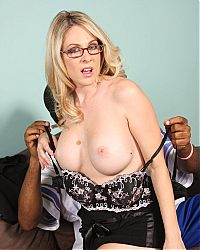 Busty MILF Angela Attison sucks and rides a big black cock on blacks on cougars blog
