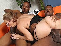 Jenna Covelli turns a job interview into an interracial threesome on blacks on cougars blog