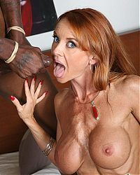 Redhead MILF Janet Mason gets her pussy demolished by a black cock on blacks on cougars blog