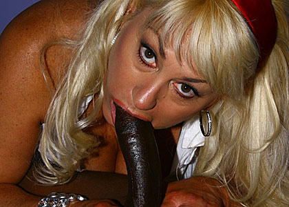 1 1 9 Sexy Dana Hayes taking huge black cock