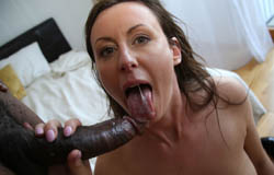 Brunette MILF Lara Latex gets her hands on a black cock on blacks on cougars blog
