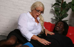Alexis Diamonds takes on her patients black dick on blacks on cougars blog